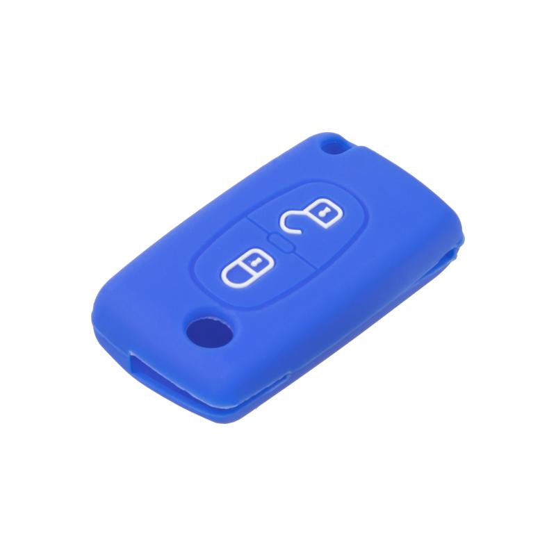 Silikonový obal pro klíč Citroen 2-tlačítkový, modrý
