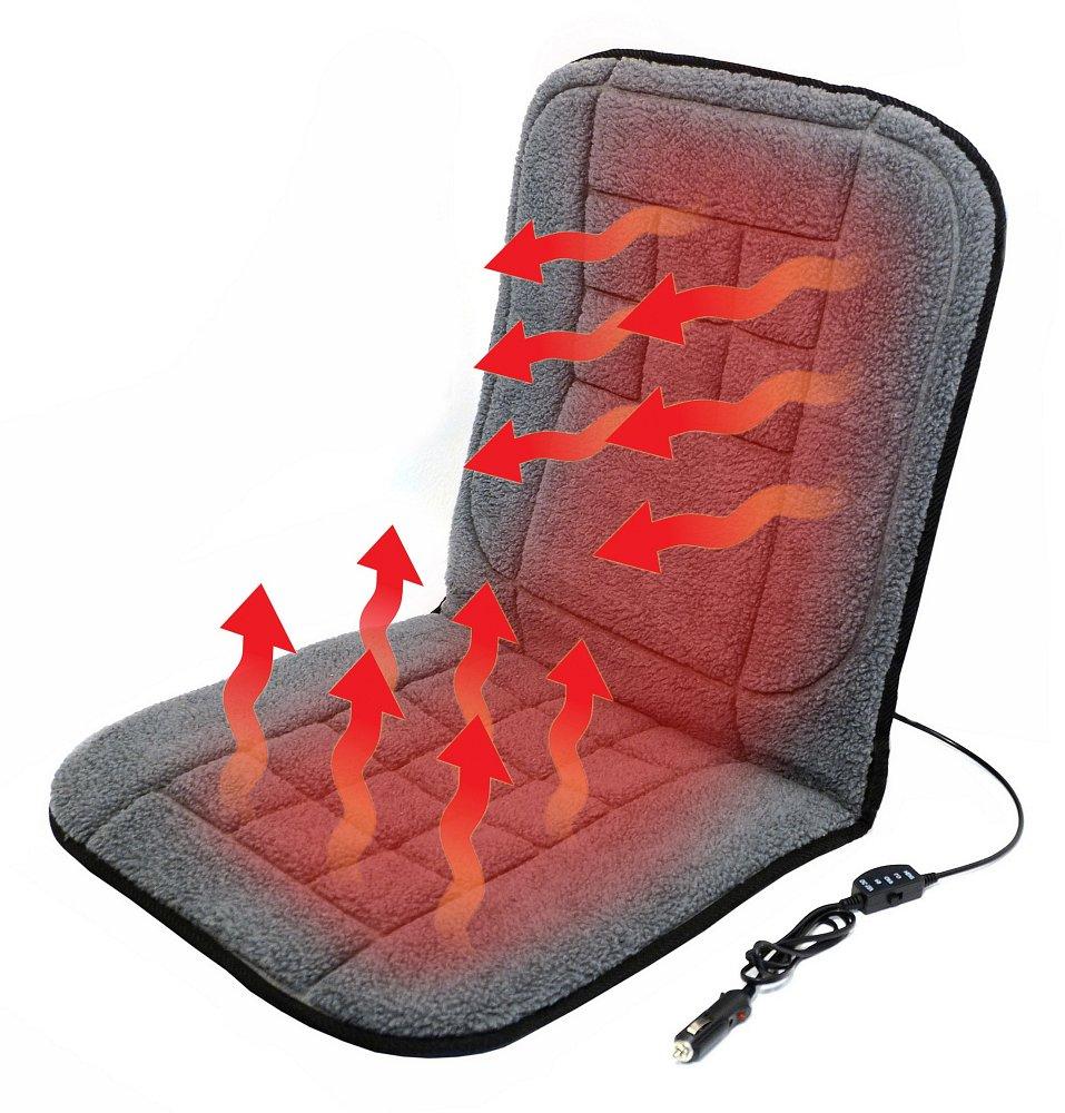 Vyhřívaný potah do auta s termostatem - vlněný