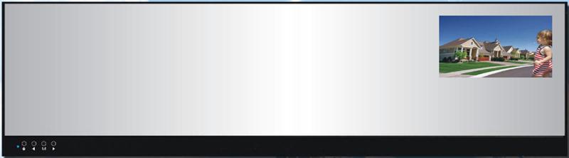 """Zrcátko s DVR kamerou a LCD monitorem 2,7"""""""