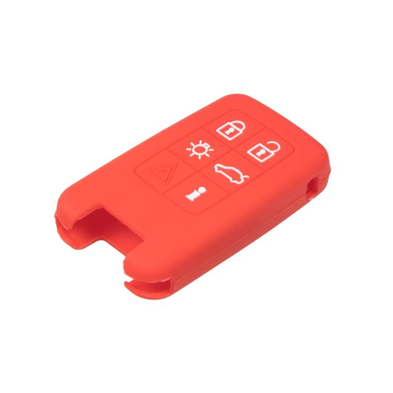 Silikonový obal pro klíč Volvo 6-tlačítkový, červený