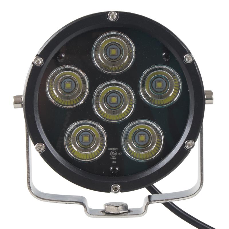 LED světlo na pracovní stroje kulaté, 10-30V, ECE R112, bodový paprsek