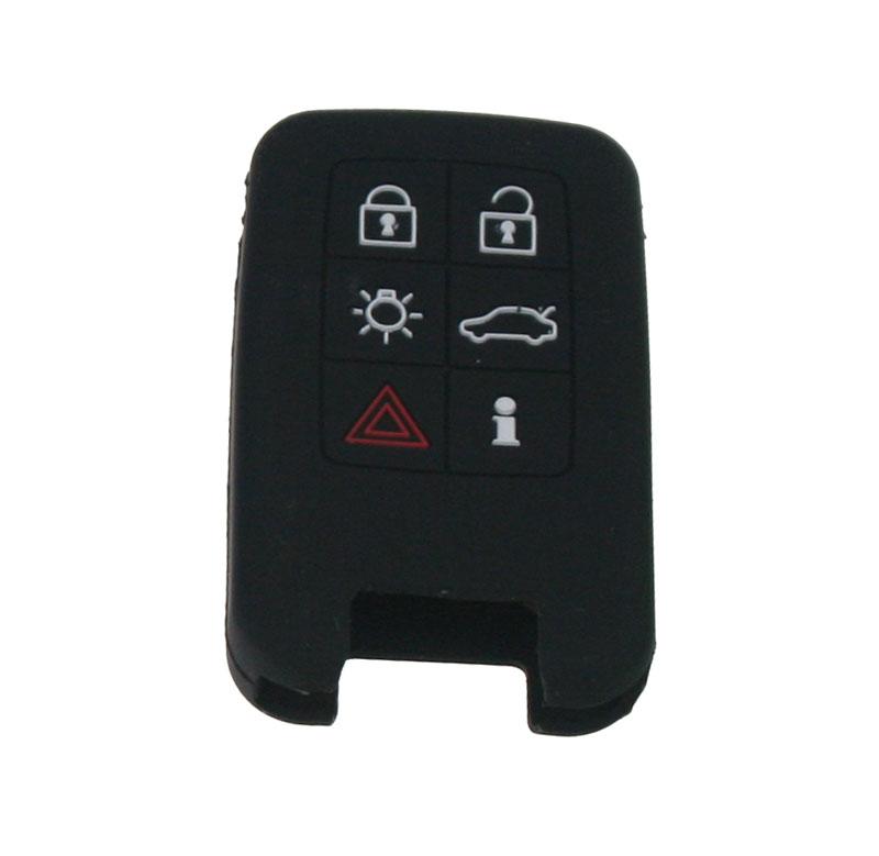 Silikonový obal pro klíč Volvo 6-tlačítkový, černý