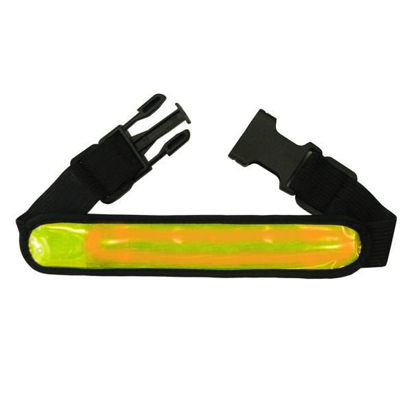 Reflexní pásek 4 LED - žlutý
