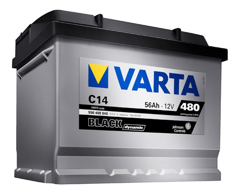 Autobaterie VARTA BLACK dynamic 56Ah 12V 480A 556400
