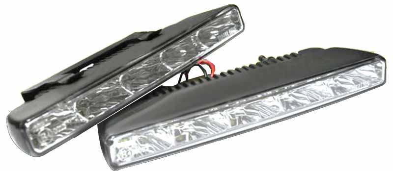 LED světla pro denní svícení, 183x20mm, ECE