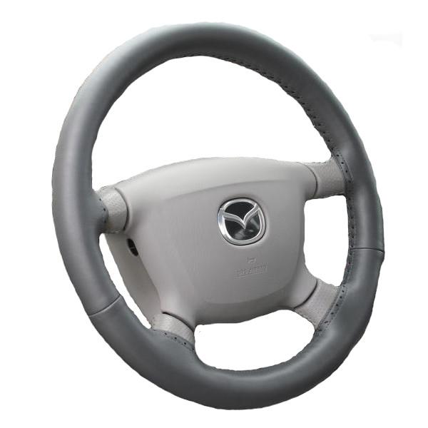 Kožený potah volantu Maria Cavallo světle šedý ( 37-39 cm)