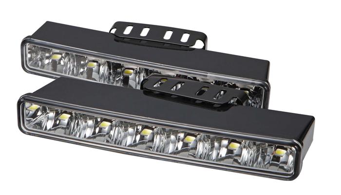 LED světla pro denní svícení, 230x35mm, ECE