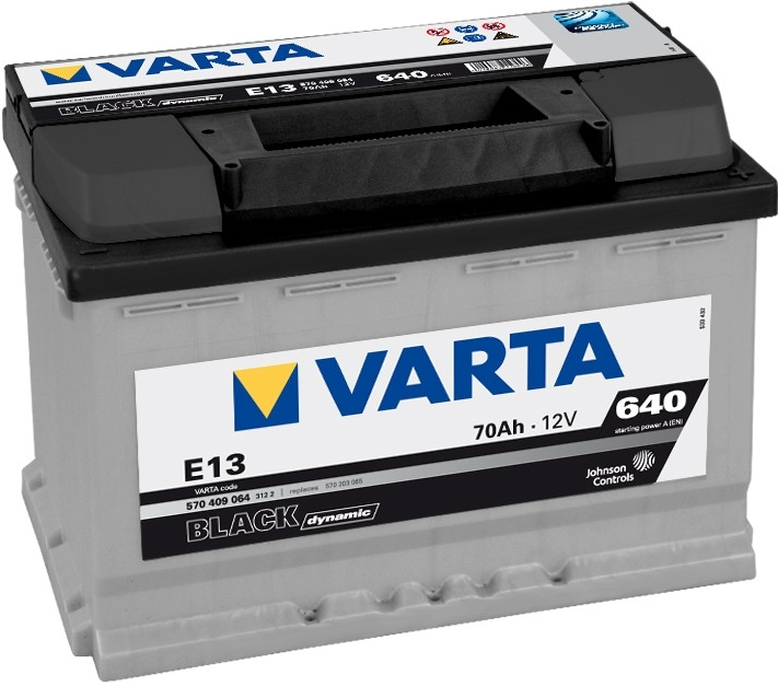 Autobaterie VARTA BLACK dynamic 70Ah 12V 640A 570409