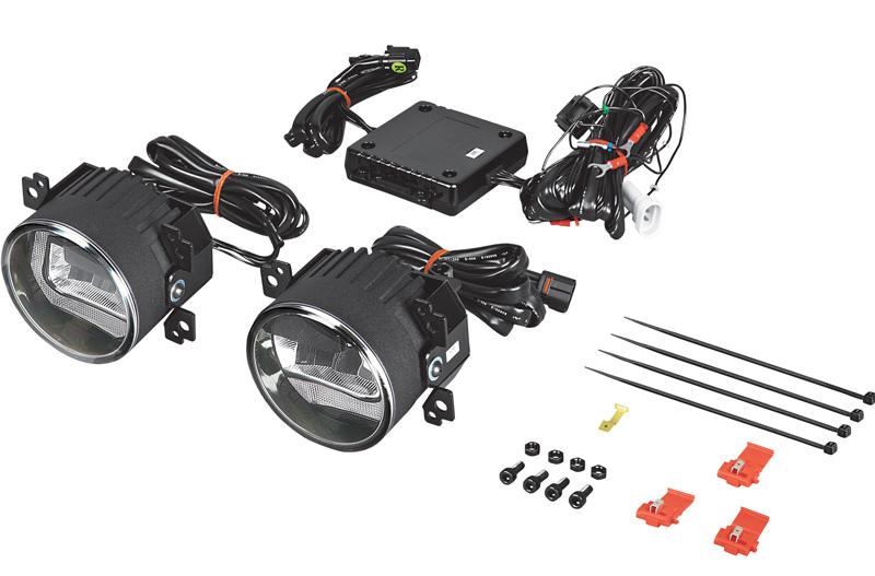 OSRAM LED mlhová světla/denní svícení, kulatá světla 90mm, ECE