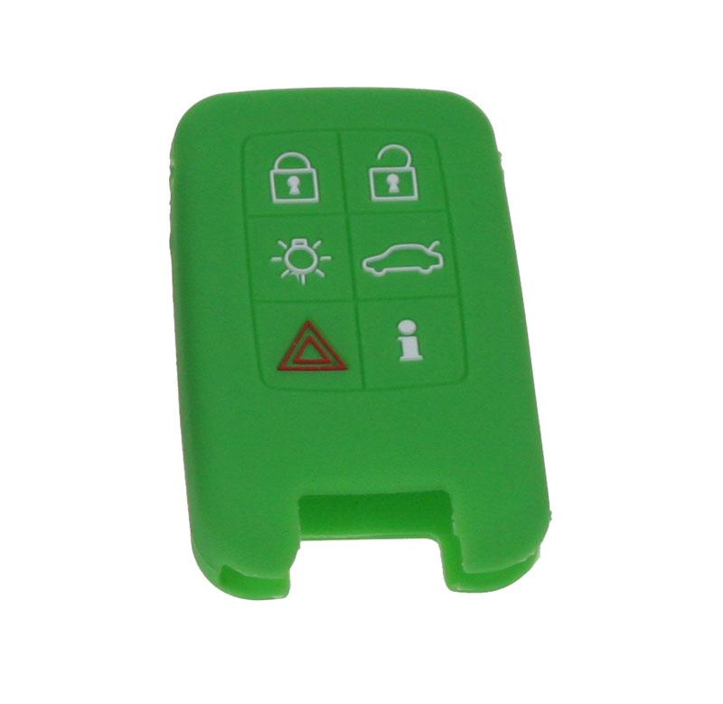 Silikonový obal pro klíč Volvo 6-tlačítkový, zelený
