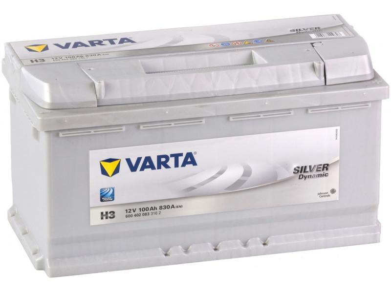 Autobaterie VARTA SILVER dynamic 100Ah 12V 830A