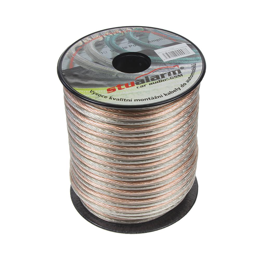 Kabel 2x2,5 mm, transparentní, 25 m bal