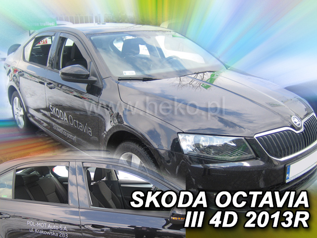 Ofuky oken - Škoda Octávia III 5D r.v. 2013-> (+zadní) htb