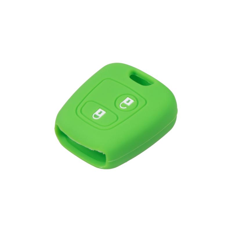 Silikonový obal pro klíč Citroen 2-tlačítkový, zelený