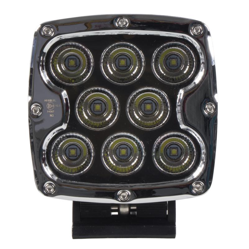 LED světlo přídavné/pracovní čtvercové 10-30V, ECE R112