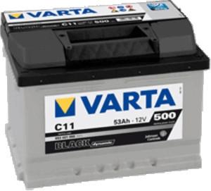 Autobaterie VARTA BLACK dynamic 53Ah 12V 500A 553401