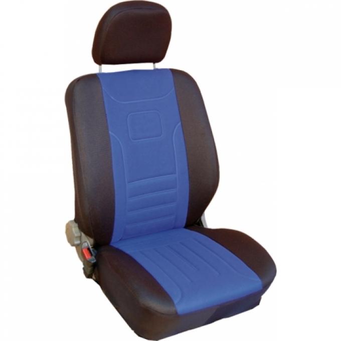 Autopotahy Classic Škoda Felicia s dělenou zadní sedačkou, modré
