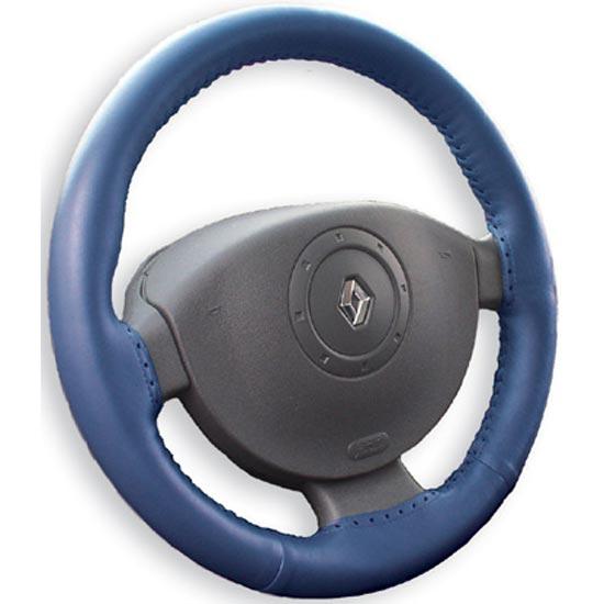 Kožený potah volantu Maria Cavallo modrý ( 37-39 cm)