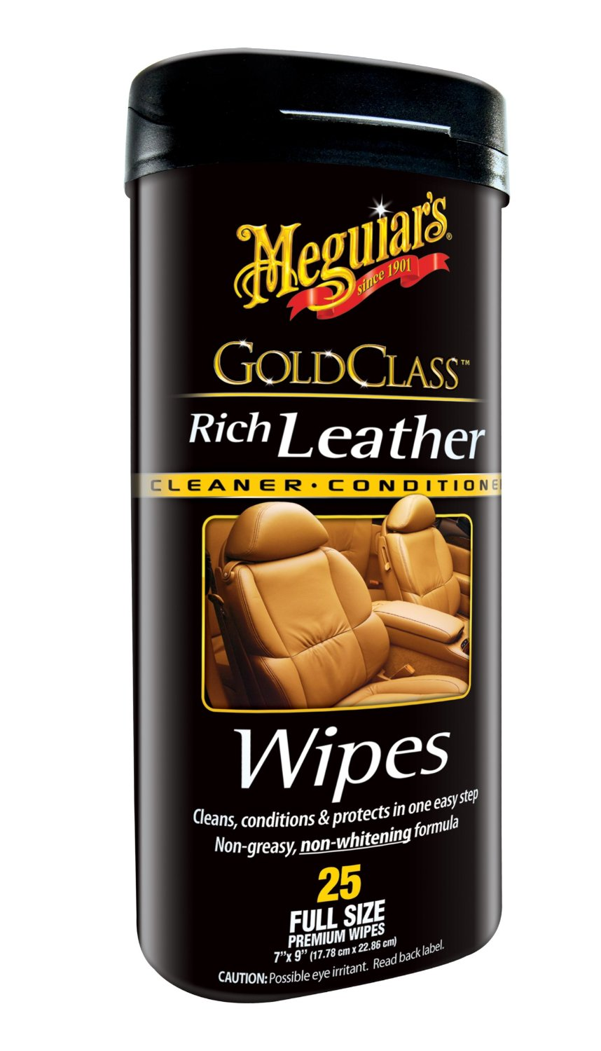 Meguiars Gold Class Rich Leather Wipes - ubrousky na kůži 25ks