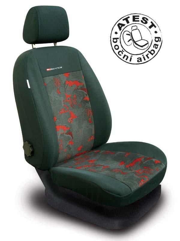 Autopotahy Škoda Octavia I TOUR, dělená, červené