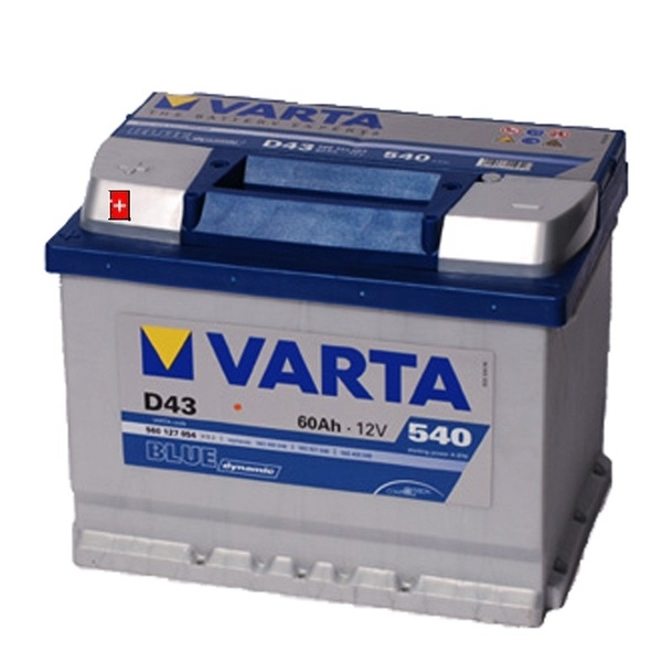 Autobaterie 60Ah VARTA BLUE dymamic L+