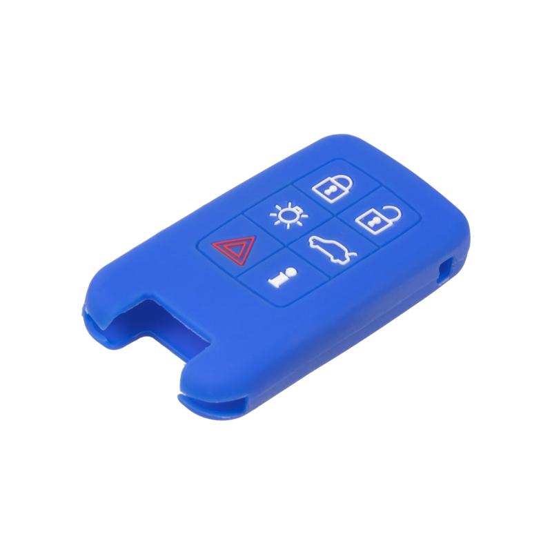 Silikonový obal pro klíč Volvo 6-tlačítkový, modrý