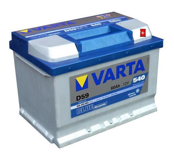 Autobaterie 60Ah VARTA BLUE dynamic