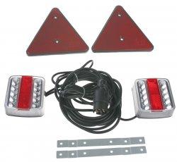 2x sdružená lampa zadní LED s trojúhelníkem včetně kabeláže a připojení 7pin