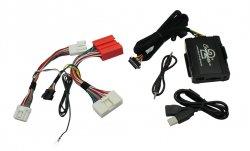 Adaptér pro ovládání USB zařízení OEM rádiem Mazda 2009-/AUX vstup