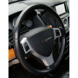Potah na volant kožený E, průměr volantu 36-38cm a obvod věnce 8,5-9,2cm