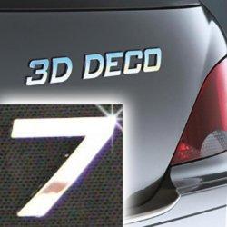 Písmeno samolepící chromové 3D-Deco - 7