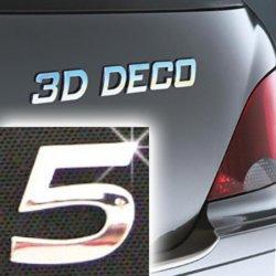 Písmeno samolepící chromové 3D-Deco - 5