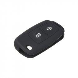Silikonový obal pro klíč Škoda, VW, Seat 2-tlačítkový, černý