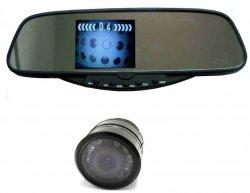 """LCD 3,5"""" ve zpětném zrcátku s parkovací infra kamerou"""