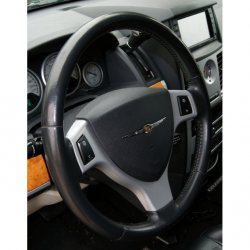 Potah na volant kožený F, průměr volantu 37-39,5cm a obvod věnce 9,7-10,4cm