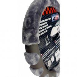 Potah na volant Paw šedý ( 37-39 cm)