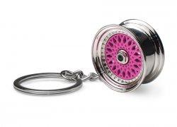 Přívěsek na klíče - lité kolo, růžové