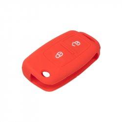 Silikonový obal pro klíč Škoda, VW, Seat 2-tlačítkový, červený