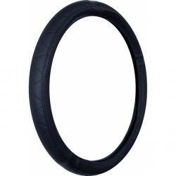 Potah na volant černý vytlačený vzor ( 37-39 cm)