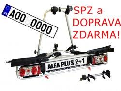 Nosič kol Wjenzek ALFA 2+1 PLUS na tažné zařízení DOPRAVA a SPZ ZDARMA