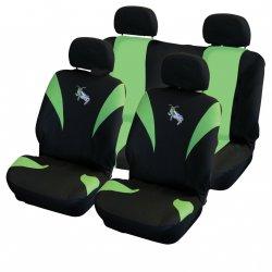 Autopotahy Grasshoppers/ Kobylky - zeleno/ černé