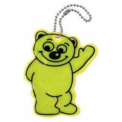 Reflexní přívěšek BEAR - žlutý