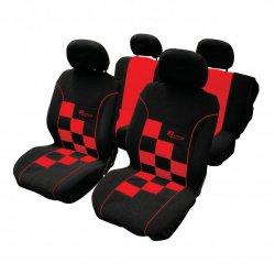 Autopotahy - Racing šachovnice červená