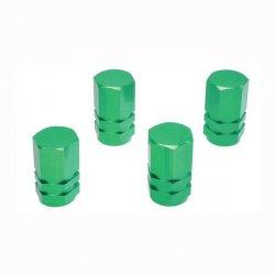 Čepičky na ventilky green 4ks