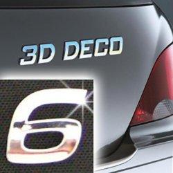 Písmeno samolepící chromové 3D-Deco - 6