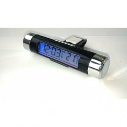 Teploměr s hodinami LED