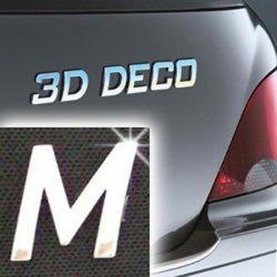 Písmeno samolepící chromové 3D-Deco - M