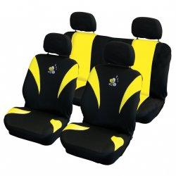 Autopotahy Včelky - žluté / černé
