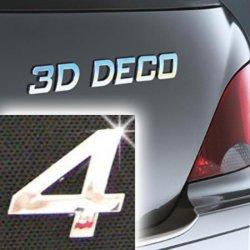 Písmeno samolepící chromové 3D-Deco - 4