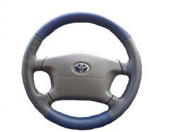 Kožený potah volantu Maria Cavallo šedo/modrý ( 37-39 cm)